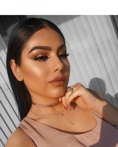 "688 Likes, 34 Comments - Adila Khalid (@adilamakeup) on Instagram: ""The gl☀️ Brows: brow definer in dark brown Highlighter/ illuminator: Nicole glow kit glo getter…"""