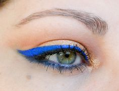 Blue Electric Liner!  http://mybeautyinbloom.blogspot.co.il/2013/03/the-magic-of-eyeliner.html