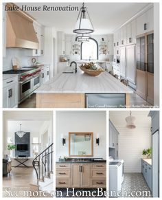 Classic Home with Wrap-around Porch - Home Bunch Interior Design Ideas Cabinet Paint Colors, Door Paint Colors, Countertop Backsplash, Marble Countertops, Visual Comfort, Kitchen Cabinetry, Painted Doors, Painting Cabinets, Interior Inspiration
