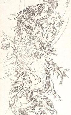 Midnight Ramblings: Dragon Gate II Sketch