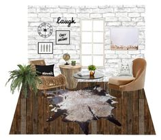 """Interior design"" by naleland on Polyvore featuring interior, interiors, interior design, dom, home decor, interior decorating, NLXL, Brewster Home Fashions, Ballard Designs i Baron Von Fancy"
