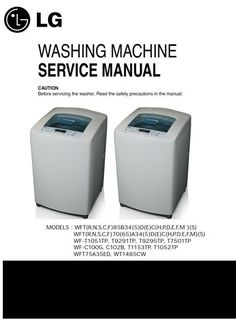40 Best LG Washer/Washing Machine Service Manuals images in