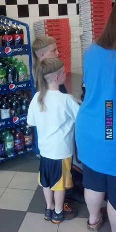 I didn't know Joe Dirt had kids? Would you get a haircut like this?