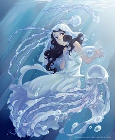 Jellyfish Princess by Dreamsraven.deviantart.com on @deviantART __________________________________________ And there go my feels :|