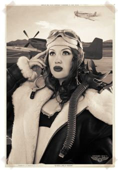 WWII Nose Art Cheesecake Pin Up Giclee Print Michael Malak Jaclene