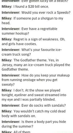 I am Mikey, Mikey is me, we are one.