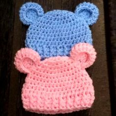 """Baby Bear - Simple Baby BeanieThis crochet pattern is available as a free download... Download Pattern:""""Baby Bear"""" Simple Baby Beanie"""