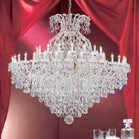 Classic Lighting 8188 CH C 49 Light Maria Theresa Chandelier