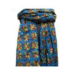 Phulkari scarf/phulkari dupatta/ chiffon dupatta/ scarf/  large scarf/ blue scarf/ gift scarf / gift ideas.