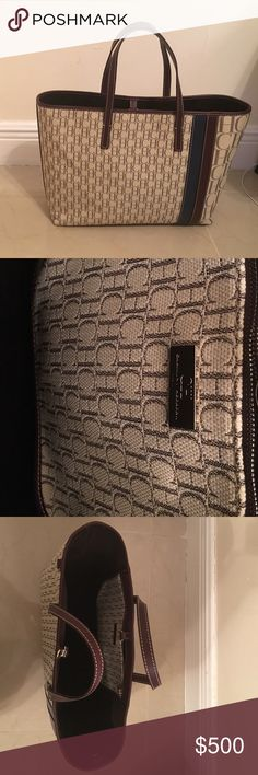Authentic Carolina Herrera Monogram Purse Medium size beige monogram purse Carolina Herrera Bags Shoulder Bags