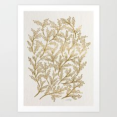 Gold Branches Art Print by Cat Coquillette - $18.00