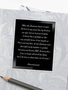 'Darkness And Light' Sticker by Roanemermaid Decorative Stickers, Darkness, Letter Board, Finding Yourself, Cards Against Humanity, Peace, Teaching, Quotes, Blog