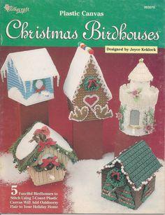 Christmas Birdhouses Plastic Canvas Book op Etsy, 7,61€