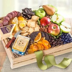 Business Fruit Gift Box by The Gift Basket Pros and more gifts at discounted prices. Send Chocolates, Fruit Gifts, Get Well Soon Gifts, Gourmet Gift Baskets, Snack Box, Sympathy Gifts, Cheddar Cheese, Fresh Fruit, Personalized Gifts