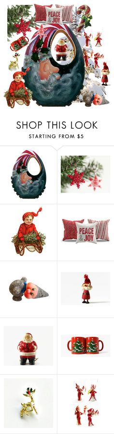 """""""Peace & Joy"""" by plumsandhoneyvintage ❤ liked on Polyvore featuring interior, interiors, interior design, home, home decor, interior decorating, Waechtersbach, contemporary and vintage"""