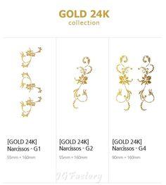 24K Gold Nude Chain Tatoo Sticker Waterproof Pattern 3pcs Skin Body Art Fashion #DDA