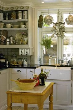 Love the door-less cabinets!!!!!
