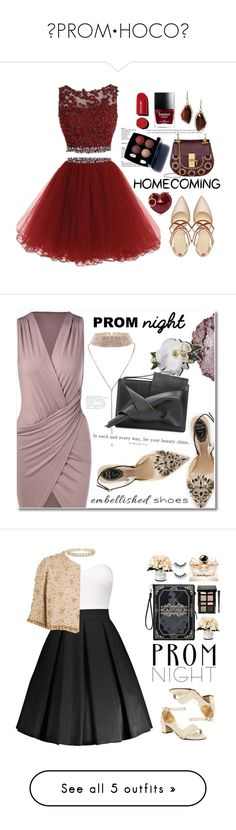 """""""✨PROM•HOCO✨"""" by princessaesthetic ❤ liked on Polyvore featuring Nine West, Chloé, Chanel, Vivienne Westwood, Chloe + Isabel, Homecoming, fallfashion, hoco2016, René Caovilla and Chantecaille"""