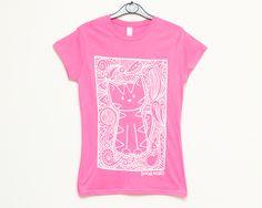 DoodleCats - Doodlecats Pattern - Ladies T-shirt - Pink, £12.00 (http://www.doodlecatsshop.co.uk/doodlecats-pattern-ladies-t-shirt-pink/)