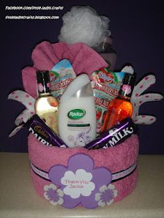 Pamper cake - PERFECT for New Moms!  I wish I had gotten one of these when my baby was in the NICU for 5 months!