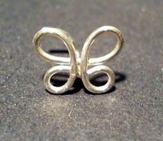 Butterfly+Nose+Ring+20+Gauge+by+melissawoods+on+Etsy,+$7.00