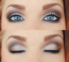 Smokey eye for blue-green eyes