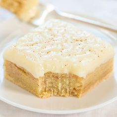 Fudgy Eggnog Bars with Eggnog Glaze