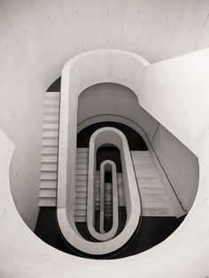 Stairwell from the underground car park of the Stadtstheater in Darmstadt, Germany