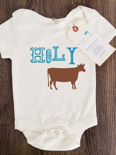 Holy Cow Baby Boy Girl Unisex Infant Toddler by shopurbanbabyco