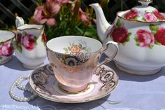 Paragon Pink Floral Teacup and Saucer Set With by TheTeacupAttic