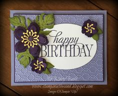 Stampin' in the Sand: Card: Botanical Birthday