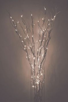 LED Lighted Curly Willow Branches, Silver, Gold, Pearl, Dark Brown, Red Or  Christmas Green