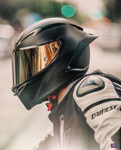 AGV Pista all carbon shell helmet. Cool Motorcycle Helmets, Motorbike Girl, Racing Helmets, Cool Motorcycles, Motorcycle Design, Motorcycle Outfit, Motorcycle Bike, Street Bike Helmets, Motorcycle Accessories