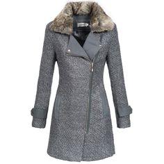 Amazon damen mantel grau