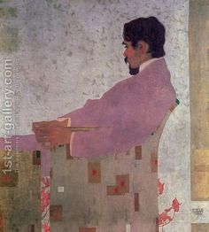 Portrait of the Painter Anton Peschka, 1909 by the artist Egon Schiele. A protégé of Gustav Klimt. Gustav Klimt, Art And Illustration, Figure Painting, Painting & Drawing, Figurative Kunst, Art Design, Modern Art, Art Photography, Street Art
