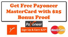 How to Get Free MasterCard and Bonus $25 with proof. MasterCard is a most valuable thing that helps us to get payment. Its 100% real and I also have it