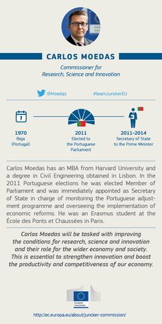 Carlos Moedas, EU Commissioner for  Research, Science and Innovation #TeamJunckerEU
