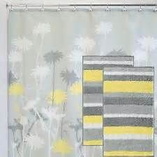 InterDesign Thistle Shower Curtain, Gray and Yellow, 72-Inch by 72 ...