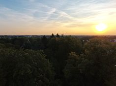 Sonnenuntergang über Bünde