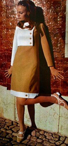 Magdorable!: Bi-color dresses by Pierre Billet, Jardin des Modes October 1966