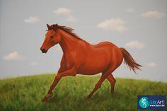 Muurschildering van een paard