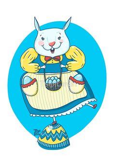 Easter bunny illustraion / by TsipiLevin