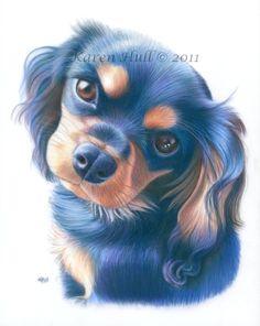 Dog Portraits by award winning artist Karen Hull