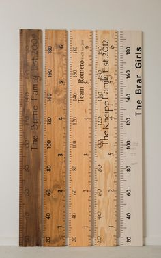 ruler wooden growth chart personalised height by UpUpAwayStore