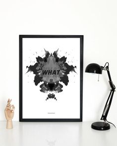 Interior poster frame WHAT illustration - Buy it online - Another Poster Shop
