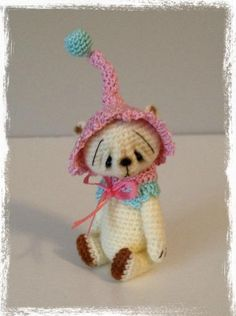 Looking for crocheting project inspiration? Check out Miniature Thread Crochet Bear ~LiBBy LoU by member TheTinyToyBox. - via @Craftsy