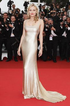 Diane Kruger in Calvin Klein Collection at the 2011 Cannes Film Festival.
