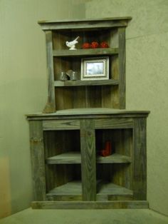 Reclaimed Corner Shelf Reclaimed Bookcase  by SouthernBarnDesigns, $299.00