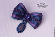 Buy Brooch - a bow the Color of magic hairpin, tatting e - brooch