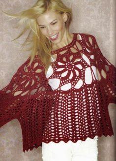 moldes y patrones de túnica crochet